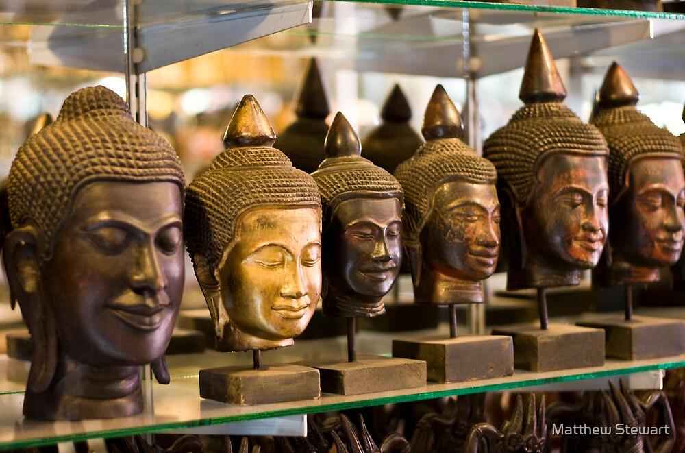 Buddhas (Siem Reap, Cambodia) by Matthew Stewart