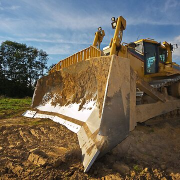 Dirty yellow bulldozer by MikLav