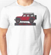 Dark Red Jeep Wrangler T-Shirt