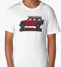 Dark Red Jeep Wrangler Long T-Shirt