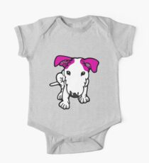 Pink Eared Bull Terrier Pup Kids Clothes