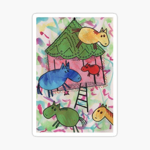Merry go horsie by Laila Cichos Sticker