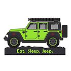 Green Jeep Wrangler by BluAnchor