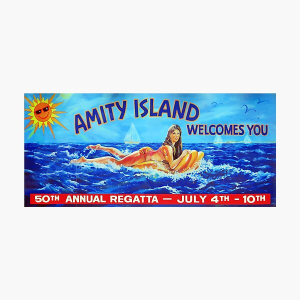Amity Island welcomes you Photographic Print