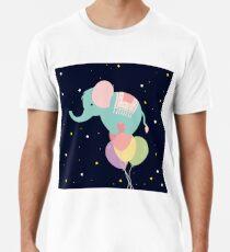 Camiseta premium para hombre Elefante y globos