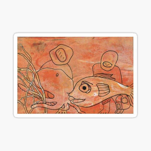 Making friends by Laila Cichos Sticker