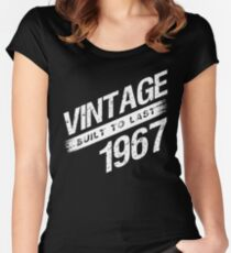 Vintage 1967 Birth Year Women's Fitted Scoop T-Shirt