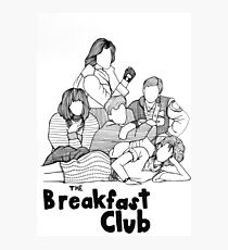 The Breakfast Club Line Drawing Photographic Print