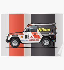 Three Diamond Pajero Turbo 1985 Rally Paris Dakar Winner Poster
