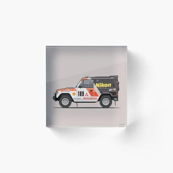 Three Diamond Pajero Turbo 1985 Rally Paris Dakar Winner Acrylic Block