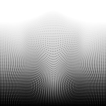 Curvy Dots Black and White by Sookiesooker