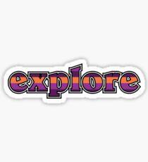 Explore (Purple) Sticker
