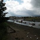 Dark Clouds at Seaton Estuary....Devon UK by lynn carter