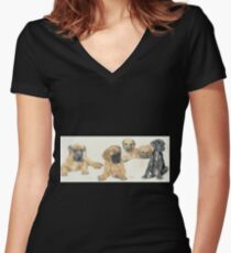 Great Dane Puppies Women's Fitted V-Neck T-Shirt