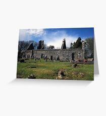 Dysart o Dea church ruins Greeting Card
