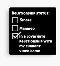 Video game love hate relationship Canvas Print