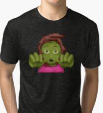 emoji zombie woman  Tri-blend T-Shirt