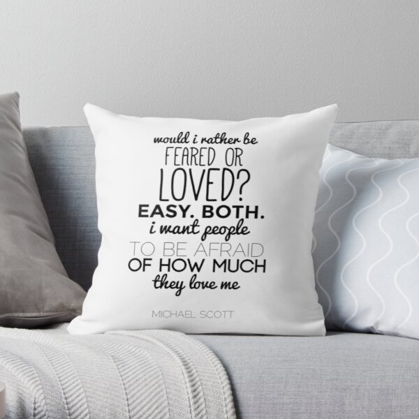 Michael Scott Quote - The Office US Throw Pillow
