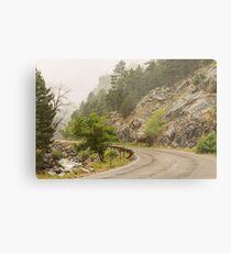 Rainy Misty Boulder Creek and Boulder Canyon Drive Metal Print
