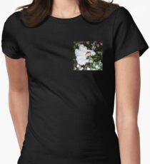 stylized hibiscus flower Women's Fitted T-Shirt