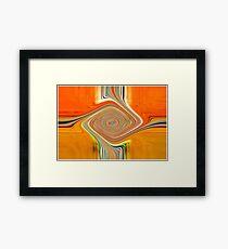 Orange and Lemon Abstract. Framed Print