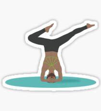 Lady doing yoga Sticker