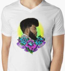 Khalid Portrait - Let's Go Men's V-Neck T-Shirt