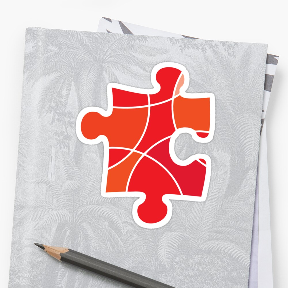 Red puzzle piece by sledgehammer
