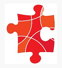 Red puzzle piece Photographic Print