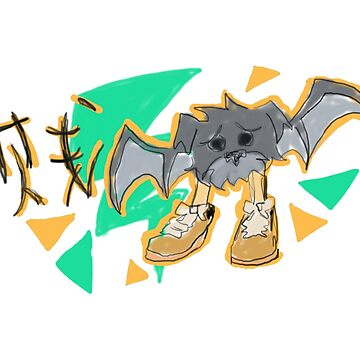 My Friend's Dog But As A Bat With Human Feet And Wearing Timberlands by Clovie31