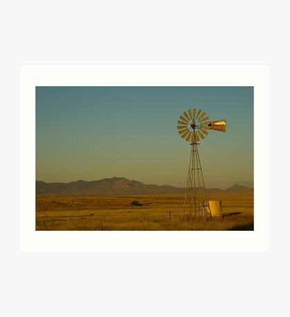 Windmill, Tucson Art Print