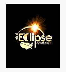 Total Solar Eclipse Astronomy Event 2017 TShirt / Decor Photographic Print