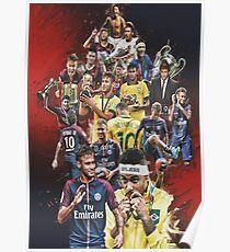 Neymar JR (Von Santos nach PSG + BRANT) Poster