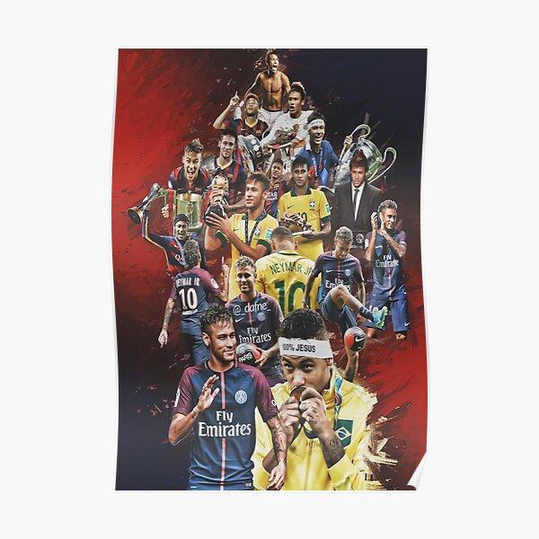 Neymar JR (De Santos à PSG + BRANT) Poster