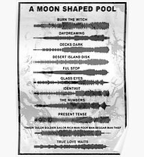 Radiohead - A Moon Shaped Pool - Sound Waves Poster