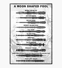 Radiohead - A Moon Shaped Pool - Sound Waves Photographic Print