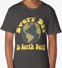 Every Day is Earth Day - Brown & Blue Long T-Shirt