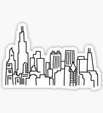 Chicago Skyline Outline Sticker