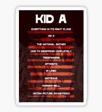 Radiohead - Kid A - Sound Wave Sticker