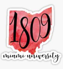 Miami University 1809 Sticker