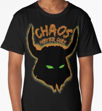 Chaos Never Dies (for black backgrounds) Long T-Shirt