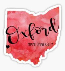Oxford MU Sticker