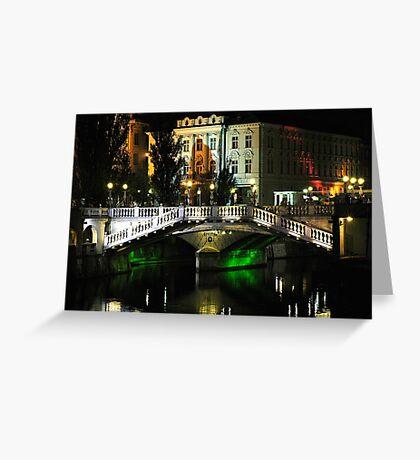 Triple Bridge Greeting Card