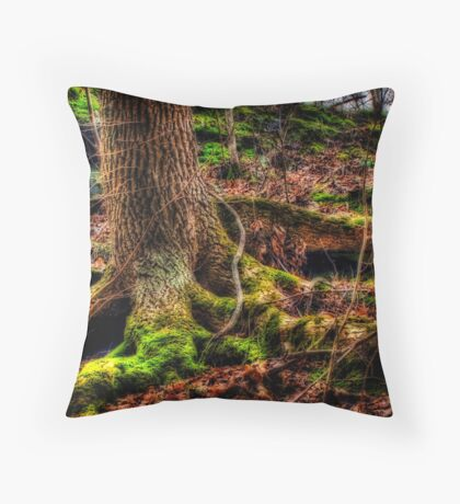 Moss Tree Throw Pillow