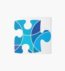 Blue puzzle piece Art Board