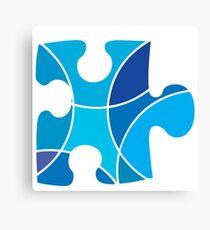 Blue puzzle piece Canvas Print