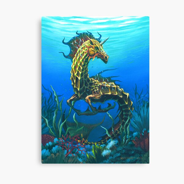 Sea Unicorn Canvas Print