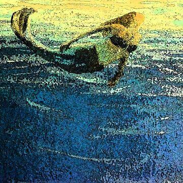 Mermaid Greeting the Dawn by MelissaB
