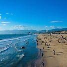 Santa Monica Beach California Pacific Ocean by mathewt