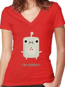 Little Monster - I'm Hungry! Women's Fitted V-Neck T-Shirt